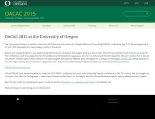 oacac2015.uoregon.edu screenshot