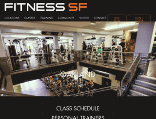 oakland.fitnesssf.com screenshot