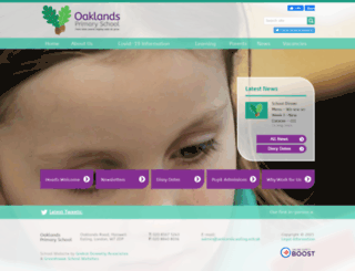 oaklands-primary.co.uk screenshot
