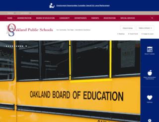 oaklandschoolsnj.org screenshot