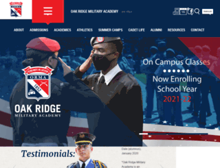 oakridgemilitary.com screenshot