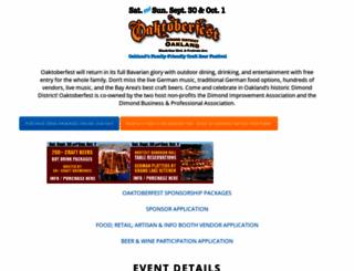 oaktoberfest.org screenshot