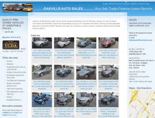 oakvilleautosales.com screenshot