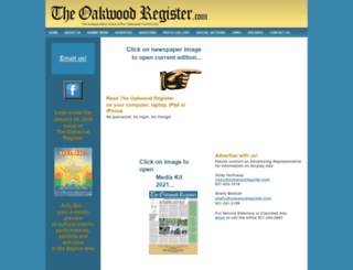 oakwoodregister.com screenshot
