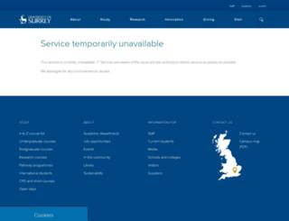 oasp.surrey.ac.uk screenshot