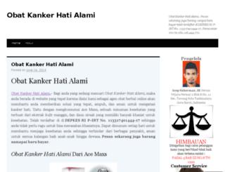 obatkankerhatialami1.wordpress.com screenshot