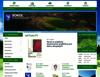 obecsokol.sk screenshot