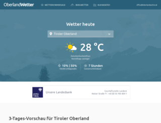 oberlandwetter.at screenshot