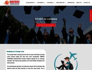 oberoioverseas.com screenshot