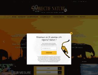 objectif-nature.fr screenshot