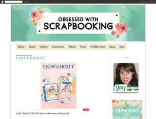 obsessedwithscrapbooking.com screenshot