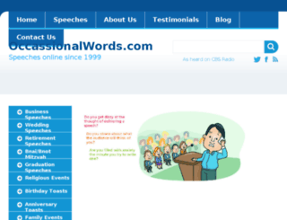 occasionalwords.com screenshot
