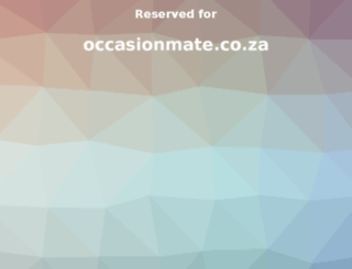 occasionmate.co.za screenshot