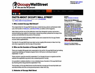 occupywallst.org screenshot