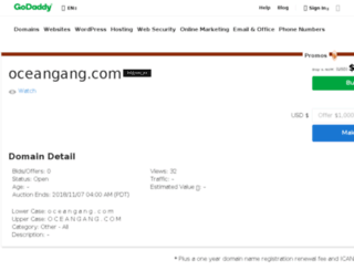 oceangang.com screenshot
