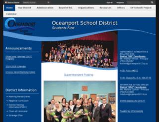 oceanport.schoolwires.net screenshot