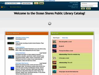 oceanshores.biblionix.com screenshot