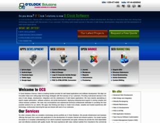 oclocksolutions.com screenshot