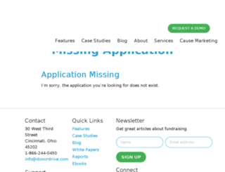 ocna.donordrive.com screenshot
