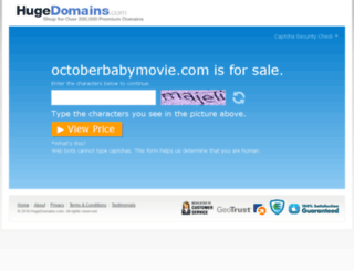 octoberbabymovie.com screenshot