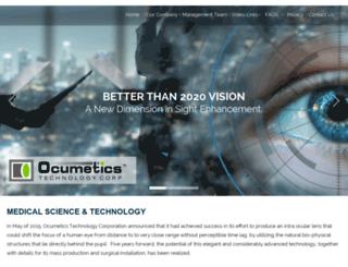 ocumetics.com screenshot