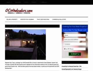 ocwholesalers.com screenshot