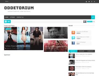 oddetorium.blogspot.com screenshot