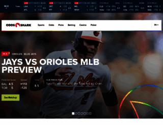 oddsshark.com screenshot