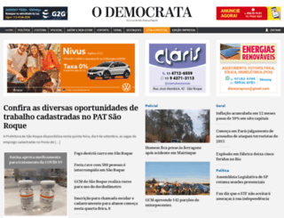 odemocrata.com.br screenshot