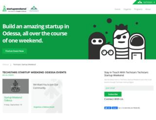 odessa.startupweekend.org screenshot