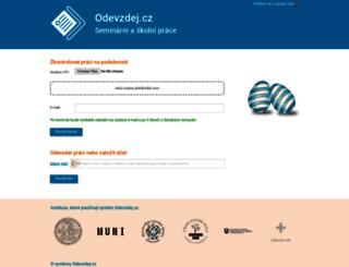 odevzdej.cz screenshot
