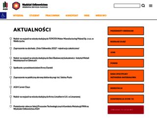 odlewnictwo.agh.edu.pl screenshot