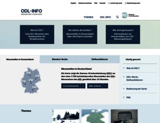 odlinfo.bfs.de screenshot