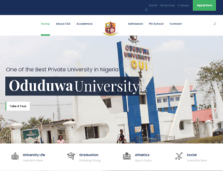 oduduwauniversity.edu.ng screenshot