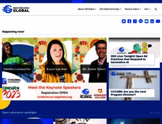 oeconsortium.org screenshot