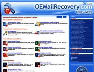 oemailrecovery.com screenshot