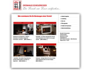 ofenhaus-scheuerecker.de screenshot