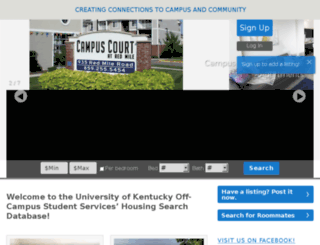 offcampushousing.uky.edu screenshot