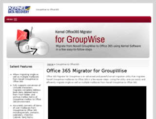 office365.groupwisemigration.net screenshot