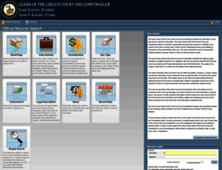 officialrecords.lakecountyclerk.org screenshot