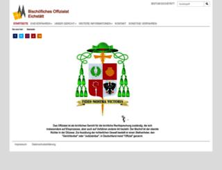 offizialat.bistum-eichstaett.de screenshot