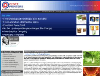 ofsetprinters.com screenshot