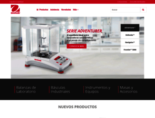 ohaus.com.mx screenshot