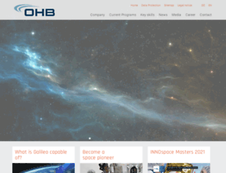 ohb-system.de screenshot