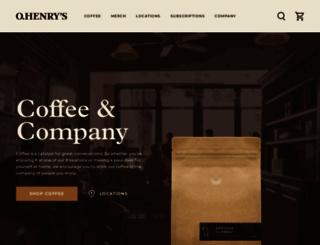 ohenryscoffees.com screenshot