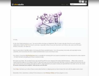 ohmstudio.com screenshot