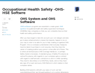 ohs-hse-software.tumblr.com screenshot