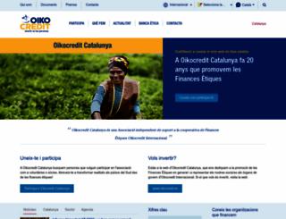 oikocredit.cat screenshot