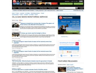 oilandgas.einnews.com screenshot
