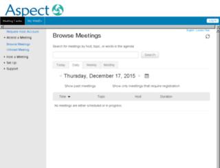 oilspace.webex.com screenshot